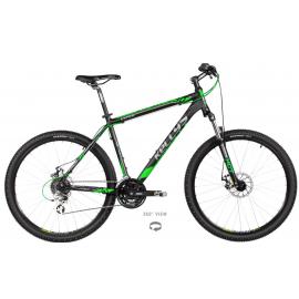 "Horský bicykel Kellys Viper 30 black green 27.5"""
