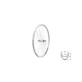 "zapletené koleso DRAFT F, 26"", SILVER"