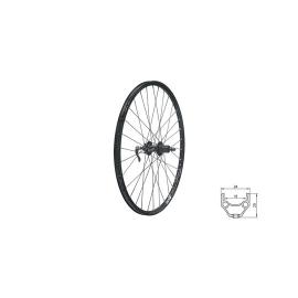 """zapletené koleso DRAFT DSC R, 26"""", BLACK"""
