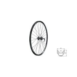 """zapletené koleso DRAFT DSC F, 28/29"""", BLACK"""